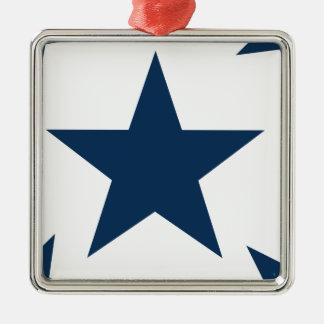 Azul del deslumbramiento de la estrella 2 adorno de navidad