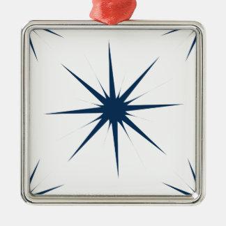Azul del deslumbramiento de la estrella 5 adorno de navidad