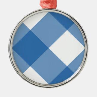 Azul del deslumbramiento de la tela escocesa 1 ornamentos de reyes