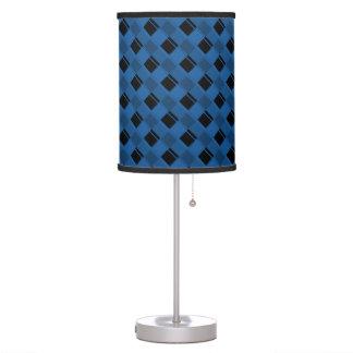 Azul del deslumbramiento de la tela escocesa 3 lámpara de mesa