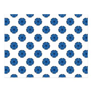 Azul del deslumbramiento del estampado de plores 2 tarjetas postales