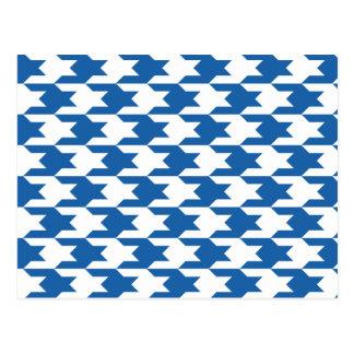Azul del deslumbramiento del modelo 1 de Houndstoo Postales