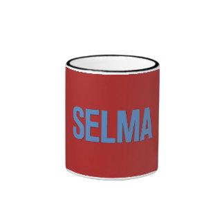 Azul del Día-Selma de MLK en rojo Taza A Dos Colores