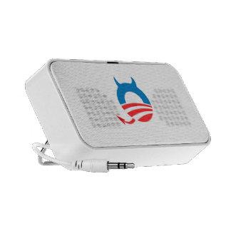 Azul del diablo de Obama iPod Altavoces