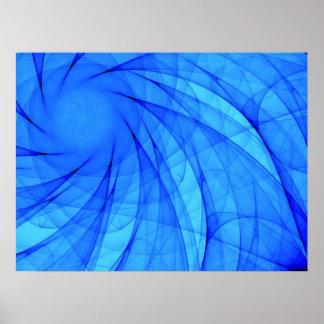 Azul del diamante de Whirlpool Posters