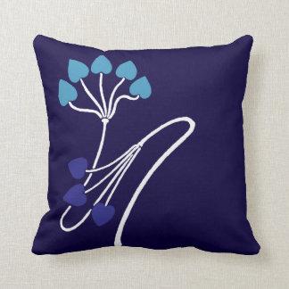 Azul del diseño floral de Nouveau Verneuil del Cojín