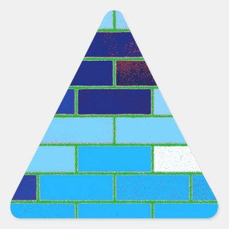 Azul del diseño y del modelo calcomanía triangulo