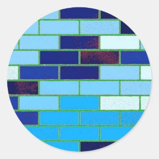 Azul del diseño y del modelo etiquetas redondas
