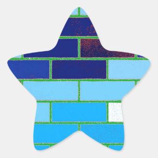 Azul del diseño y del modelo pegatinas forma de estrella