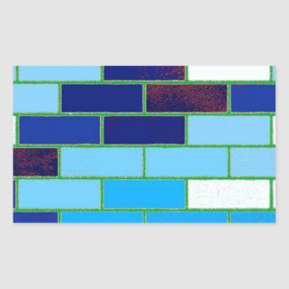 Azul del diseño y del modelo pegatina