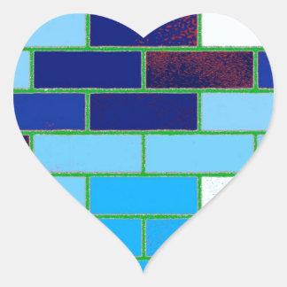 Azul del diseño y del modelo colcomanias de corazon personalizadas
