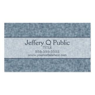 Azul del dril de algodón tarjetas de visita