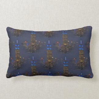 Azul del Empire State Building para el autismo Almohada