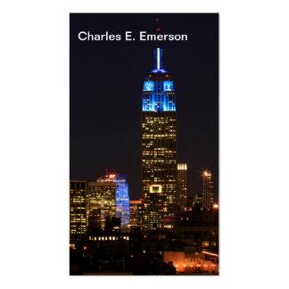 Azul del Empire State Building para el autismo Tarjetas De Visita