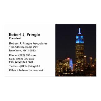 Azul del Empire State Building para el autismo Plantilla De Tarjeta Personal