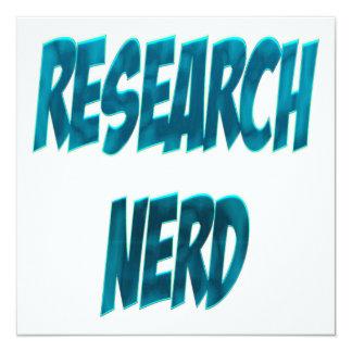 """Azul del empollón de la investigación invitación 5.25"""" x 5.25"""""""