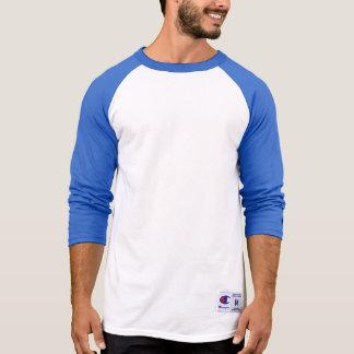 AZUL del EQUIPO de la camisa con mangas del raglán