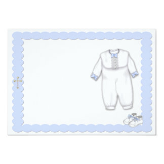 """Azul del equipo del bautismo invitación 5"""" x 7"""""""