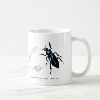 Azul del escarabajo el   del sacristán del insecto taza de café