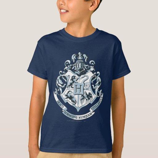 Azul del escudo de Hogwarts Playeras