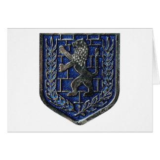 Azul del escudo de Jerusalén Tarjeton