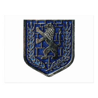 Azul del escudo de Jerusalén Tarjetas Postales