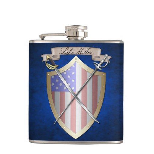 Azul del escudo de la bandera americana