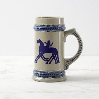 azul del escudo de Sleipnir de la taza