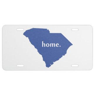 Azul del estado de origen de Carolina del Sur Placa De Matrícula