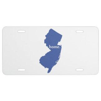 Azul del estado de origen de New Jersey Placa De Matrícula