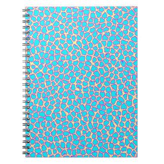 Azul del estampado leopardo en amarillo cuadernos