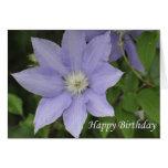 Azul del feliz cumpleaños tarjetas