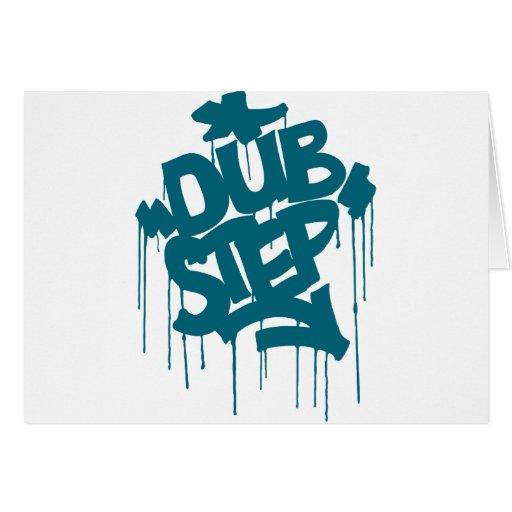 Azul del filón de Dubstep FatCap Tarjeta De Felicitación