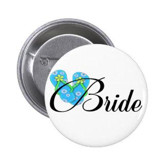 Azul del flip-flop de la novia del destino pins
