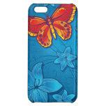 Azul del Flourish de la mariposa