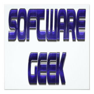 """Azul del friki del software invitación 5.25"""" x 5.25"""""""