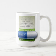 azul del fukitol taza de café