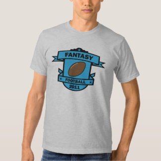 Azul del fútbol 2011 de la fantasía remera