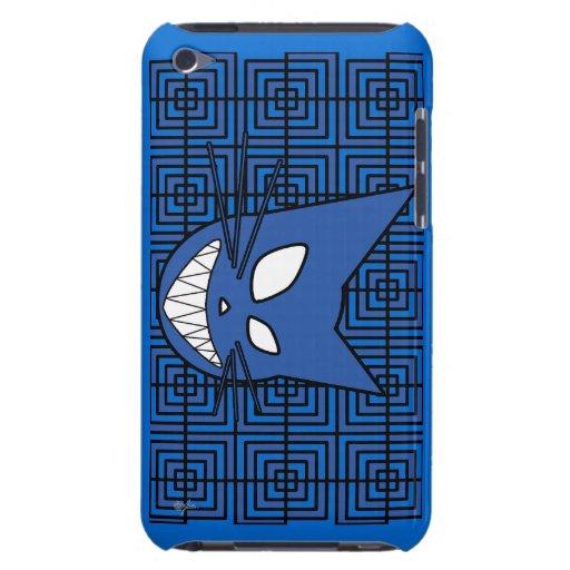 Azul del gatito de Techi Barely There iPod Carcasas