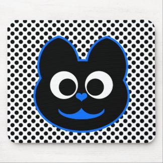 Azul del gato del gatito alfombrillas de ratón