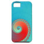 Azul del giro del fractal iPhone 5 Case-Mate protectores