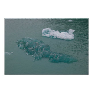 Azul del glaciar impresiones