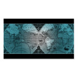 Azul del globo del mapa del mundo de la tarjeta de plantilla de tarjeta de negocio