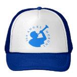 Azul del gorra del camionero de Moroni del ángel