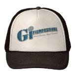Azul del gorra el | del logotipo del festival de c