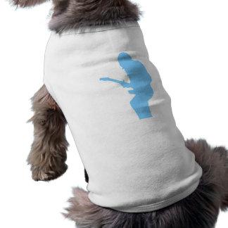 Azul del guitarrista playera sin mangas para perro
