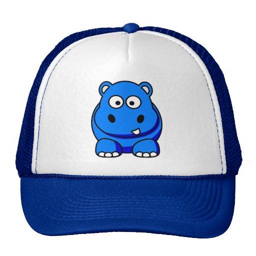 Azul del hipopótamo gorro