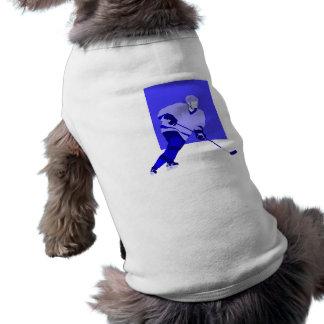 Azul del hockey sobre hielo del logotipo ropa de perro