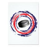 Azul del hockey y blanco rojos comunicado personalizado