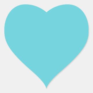 Azul del huevo del petirrojo pegatina en forma de corazón